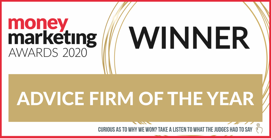 Money Marketing Awards 2020 Winner, Advice Firm of the Year